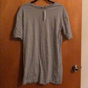 Gray ASOS t shirt dress